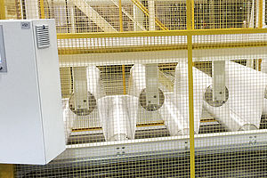 Material web accumulator, capacity 40 m